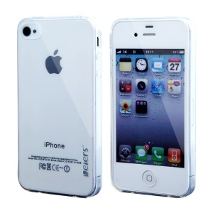 Leiers Thin Ice Series TPU Cover Case for iPhone 4s 4 - Transparent White