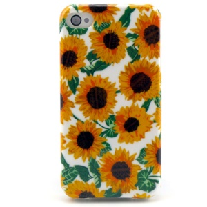 Multiple Sunflowers TPU Case for iPhone 4 4s