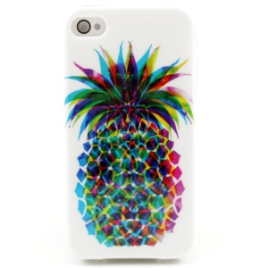 Vivid Pineapple TPU Gel Case for iPhone 4 4s