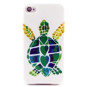 Cartoon Tortoise TPU Shell Cover for iPhone 4 4s