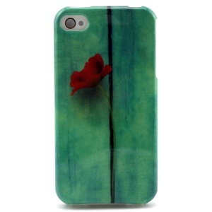 Fresh Rose Flower TPU Cover Case for iPhone 4 4s