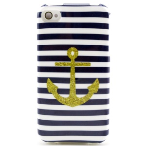 Anchor & Stripes TPU Back Case for iPhone 4 4s