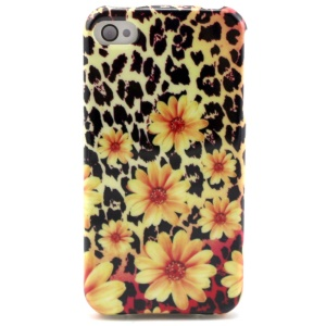 Chrysanthemum & Leopard TPU Case Shell for iPhone 4 4s