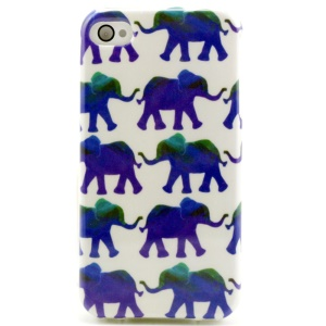 Various Elephants TPU Shell for iPhone 4 4s