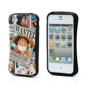iFace One Piece Monkey D Luffy TPU Gel Protective Case for iPhone 4 4S