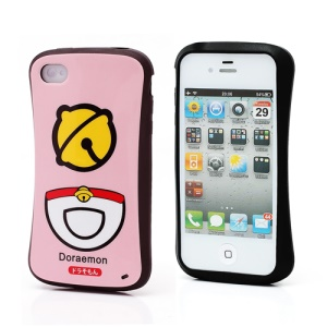 iFace iPhone 4 4S TPU Jelly Case Doraemon Bell Pattern - Pink