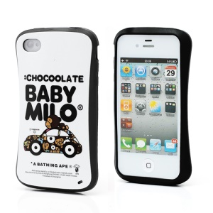 iFace Lovely Baby Milo Ape on a Car Pattern TPU Gel Case for iPhone 4 4S