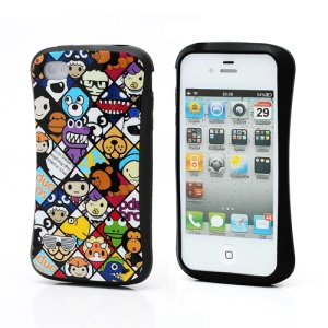iFace Fun Chacoolate Bathing Ape TPU Gel Skin Case for iPhone 4 4S