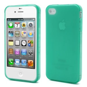 Dustroof Plug Matte TPU Gel Case for iPhone 4 4S - Green