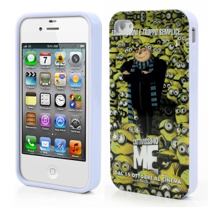 Gru & Minions Anti-crime Despicable Me 2 IMD TPU Case for iPhone 4 4S