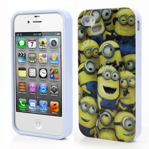 Despicable Me 2 Minion Madness IMD TPU Skin Case for iPhone 4 4S