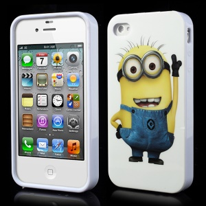 Despicable Me 2 Funny Minion IMD TPU Case Accessory for iPhone 4 4S