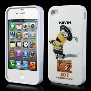Minion Kevin Golfer Despicable Me 2 IMD Gel TPU Cover for iPhone 4 4S