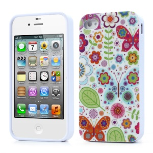 Spring Dazzling Flowers for iPhone 4 4S TPU Skin Cover