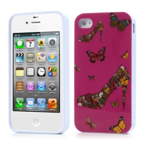 Butterfly & High Heel for iPhone 4 4S TPU Gel Case