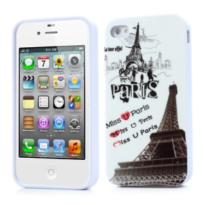 Miss U Pairs Effiel Tower TPU Shell for iPhone 4 4S