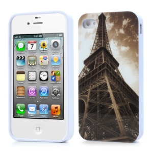 Effiel Tower in the Dark Clouds for iPhone 4 4S TPU Cover