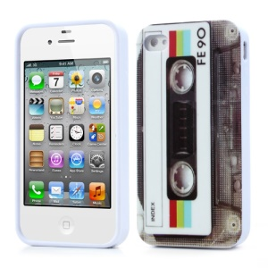 Nostalgic Tape for iPhone 4 4S TPU Gel Cover