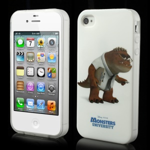 For iPhone 4 4S Monster University Professor Derek Knight TPU Shell
