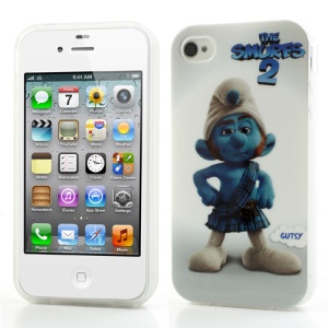Gutsy Hefty Smurf Smooth TPU Case Cover for iPhone 4 4S