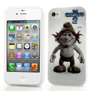 The Smurfs 2 Hackus for iPhone 4 4S Smooth TPU Gel Case Shell