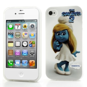 The Smurfs 2 Pretty Smurfette Smooth TPU Back Case for iPhone 4 4S