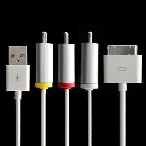 Composite AV Audio Video Cable USB Sync Charger for iPad 3 / 2 iPhone 4S / 4  / 3G / 3GS