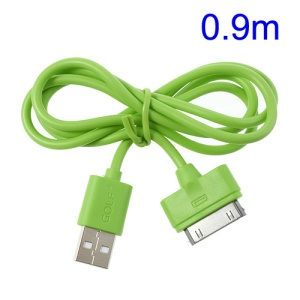 Green Golf Data Transmit & Charging Apple 30 Pin USB Cable for iPhone 4s 4 The New iPad iPod Touch 4