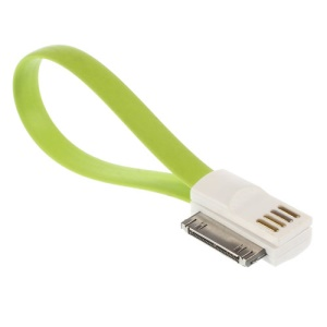 22cm Flat 30-pin Magnet USB Data Charging Cable for iPhone 4s 4 3GS 3G / iPad iPod - Green