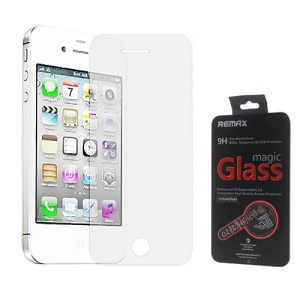 Remax Ultra-thin 0.2mm 9H Tempered Glass Screen Protector for iPhone 4 4S