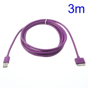 3M Thick Lightning 30pin USB Data Charging Cable for iPhone 4s 4 iPad 3 2 iPod Touch 4 3 - Purple