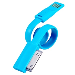 Blue TakeFans Dazzle Color Series II 20cm Apple 30pin USB Data Sync Charge Cable for iPhone 4s 4 iPad 3 2 iPod Touch 4