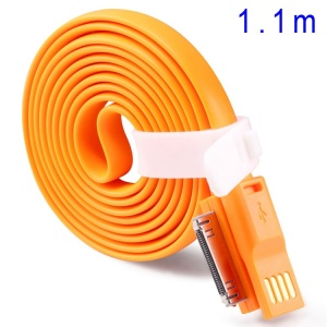 Orange TakeFans Dazzle Color Series II 110cm Apple 30pin USB Data Sync Charge Cord for iPhone 4s 4 iPad 3 2 iPod Touch 4