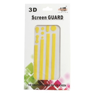 Carbon Fiber Textured Home Button & Side Sticker Edge Protector for iPhone 4s 4 - Yellow
