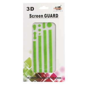 Carbon Fiber Textured Home Button & Side Sticker Edge Protector for iPhone 4s 4 - Green