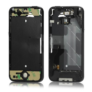 Electroplating iPhone 4S Middle Metal Plate Frame Assembly Parts - Black