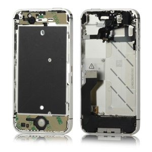 Electroplating iPhone 4S Mid Metal Plate Frame Faceplates Assembly - Silver