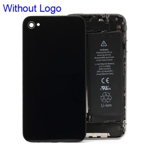 Black Battery Cover Back Door Rear Glass for iPhone 4S (without Apple Logo)
