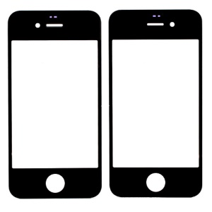 Black for iPhone 4S High Quality Front Glass Screen Lens Replacement