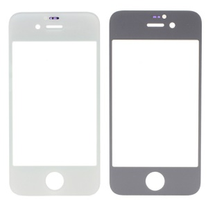 White High Quality Front Glass Screen Lens Repair Part for iPhone 4S