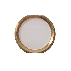 iPhone 5s Style Home Button Repair Part for iPhone 4s - Gold / White