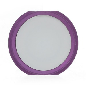 iPhone 5s Style Home Key Button Spare Part for iPhone 4S - Purple / White