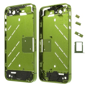 Green Matte Metal Middle Plate + Buttons + SIM Card Tray + Phillips Screw for iPhone 4s