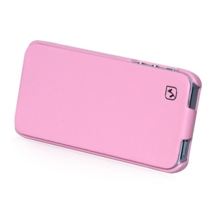HOCO Duke Vertical Genuine Leather Flip Case Cover for iPhone 5 - Pink
