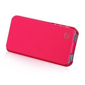 HOCO Duke Vertical Genuine Leather Flip Case Cover for iPhone 5 5s - Rose