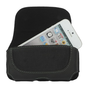 Horizontal Genuine Leather Belt Clip Holster Pouch Case for iPhone 5 5s 4S For iPod Touch 4