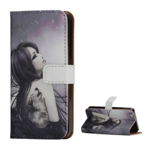 Tattooed Classic Beauty Wallet Leather Stand Case for iPhone 5 5s