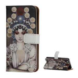 Opera Beauty Pattern Wallet Leather Protective Case for iPhone 5 5s