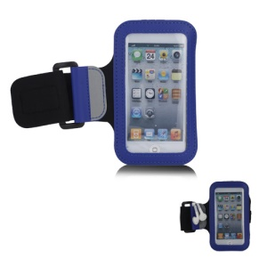 Brand New Anti-Slip Sports Gym Jogging Armband for iPod Touch 5 - Blue