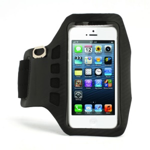 Twill Design Sports Running Gym Arm Band Armband Cace Cover for iPhone 5 - Black